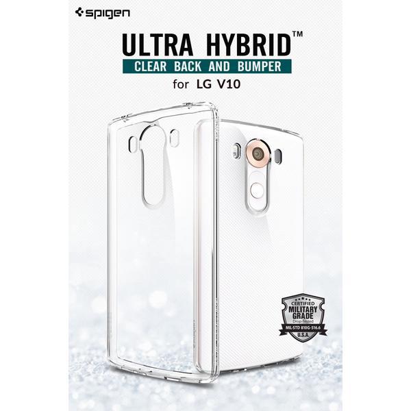 Spigen LG V10 Case Ultra Hybrid Soft Hard Casing - Crystal View Trans