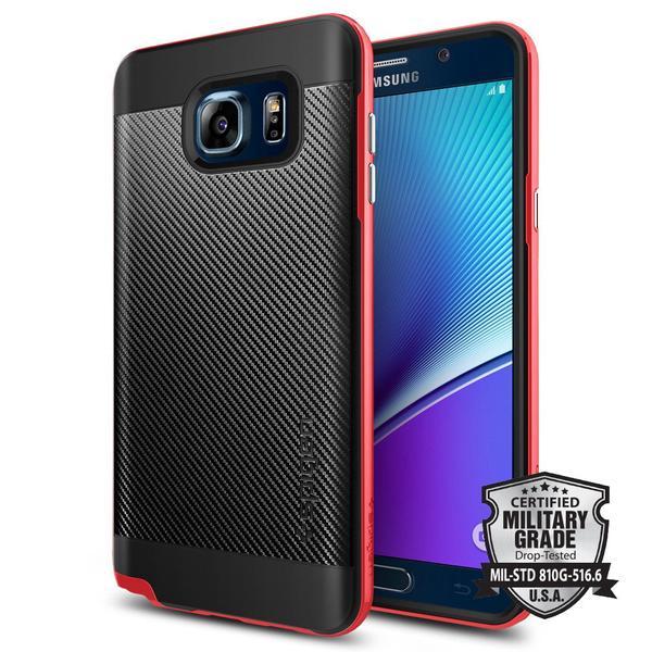 Spigen Neo Hybrid Carbon Case Samsung Galaxy Note 5 - Dante Red