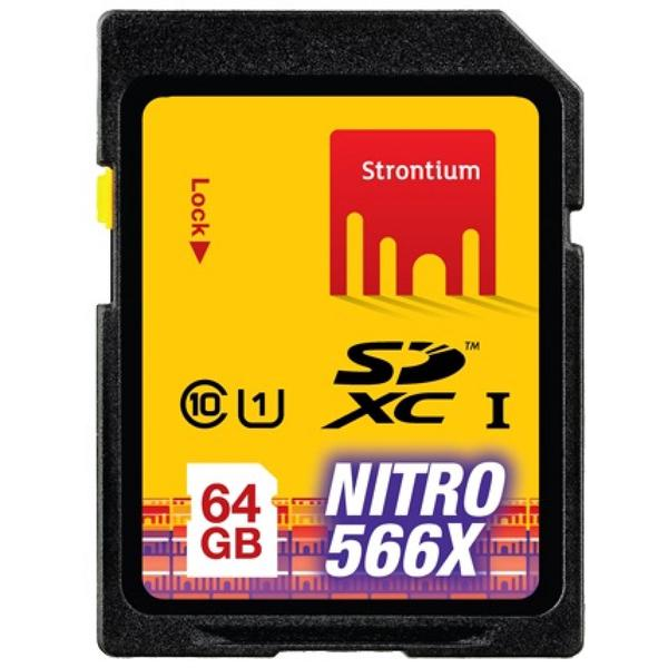 Strontium Nitro 566X SDXC UHS-1 85MB / S Class 10 64GB - SRN64GSDU1 - Ye