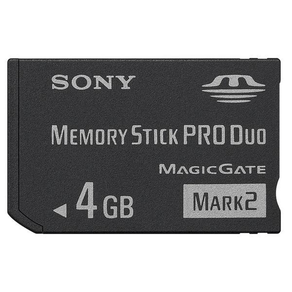 Sony Memory Stick PRO Duo Mark 2 4GB - MS-MT4G - Black