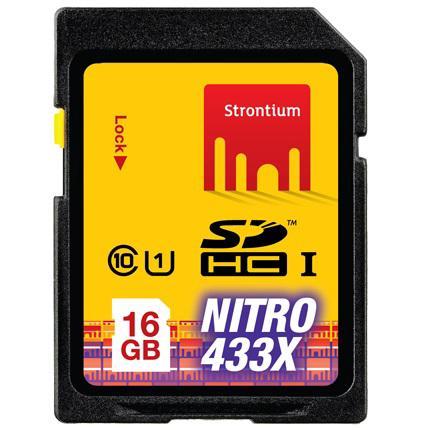 Strontium Nitro 433X SDHC UHS-1 65MB / S Class 10 16GB - SRN16GSDU1 - Ye