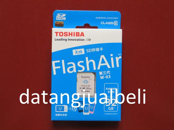 Toshiba Flash Air Wireless SD Card Class 10 32GB - SD-R032GR7AL03A - W