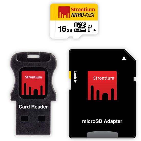 Strontium Nitro Plus 4K MicroSDHC UHS-1 U3 16GB With Adapter And Card