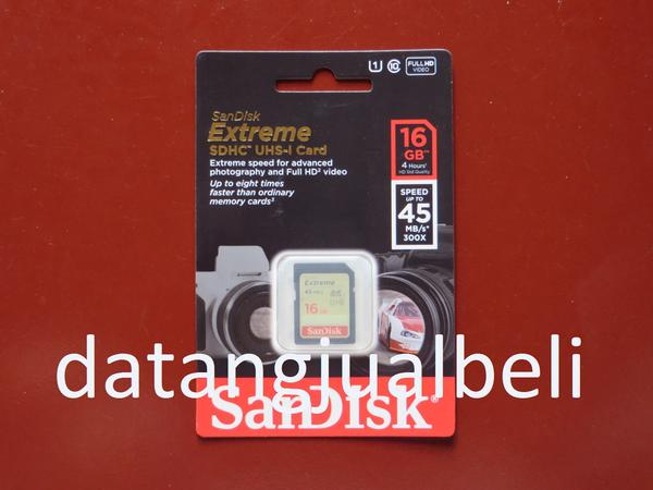 SanDisk Extreme SDHC Card UHS-I Class 10 (45MB / S) 16GB - SDSDX-016G-X4