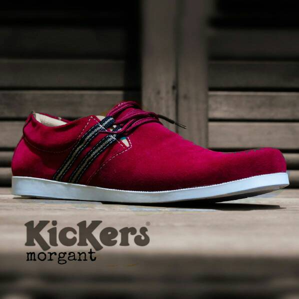 kickers morgant red suede