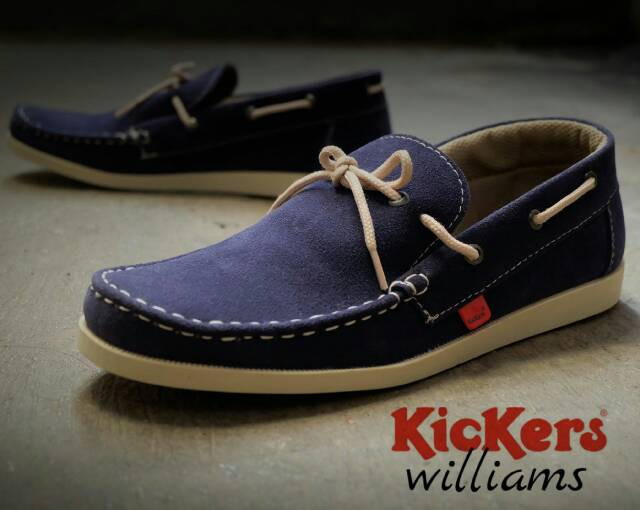 kickers william navy suede