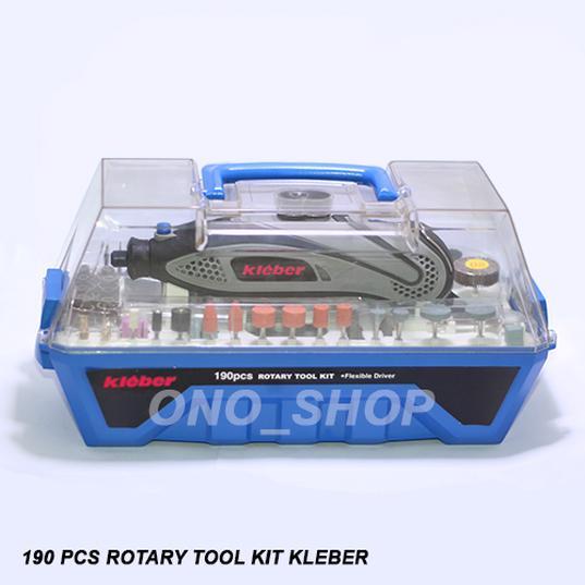 Rotary Tool Kit Kleber Set 190 Pcs Jaminan Mutu