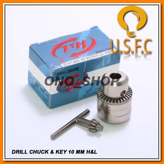 Kepala Mesin Bor 10 Mm H&L (Chuck & Key) Jaminan Mutu