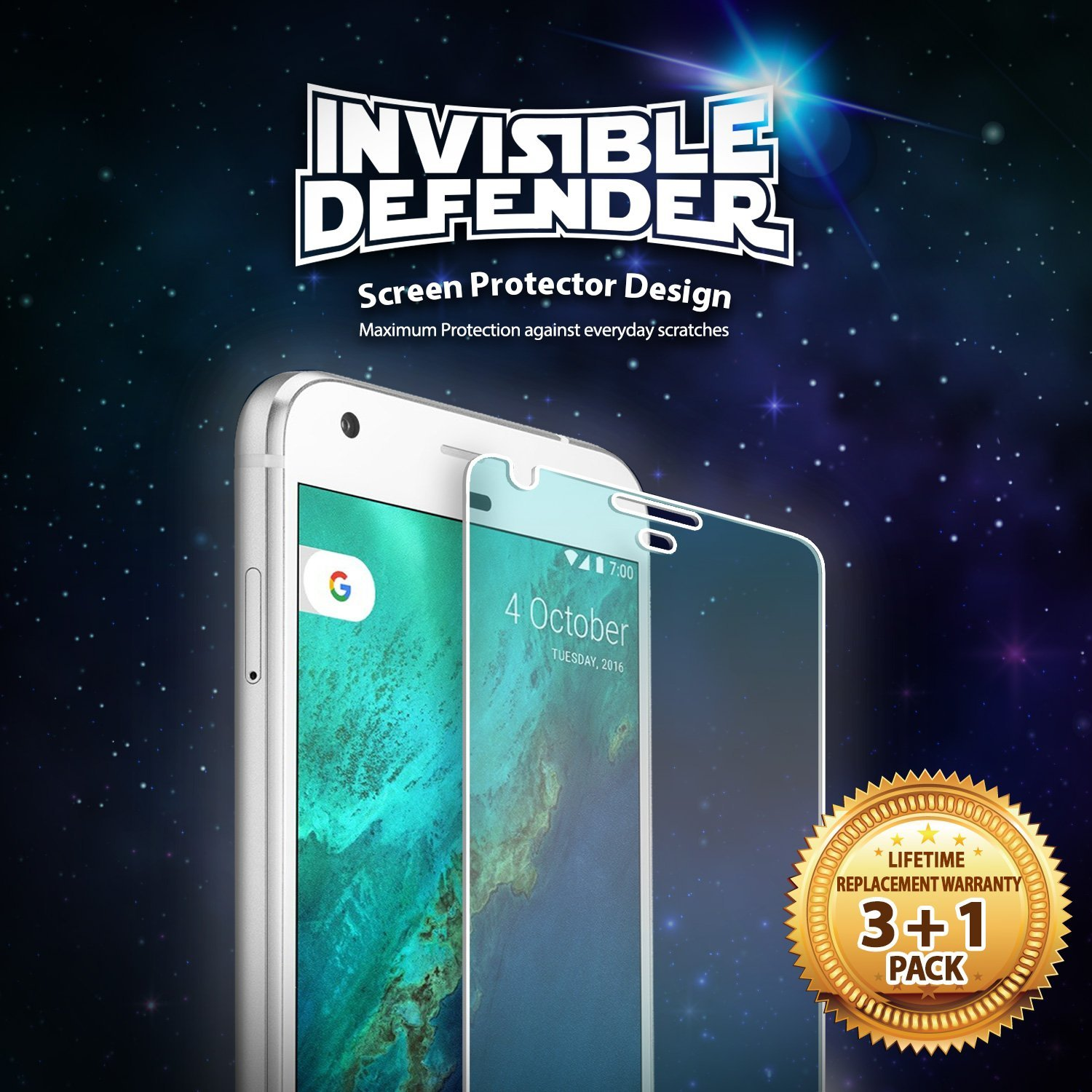 Ringke Screen Protector Invisible Defender Google Pixel XL