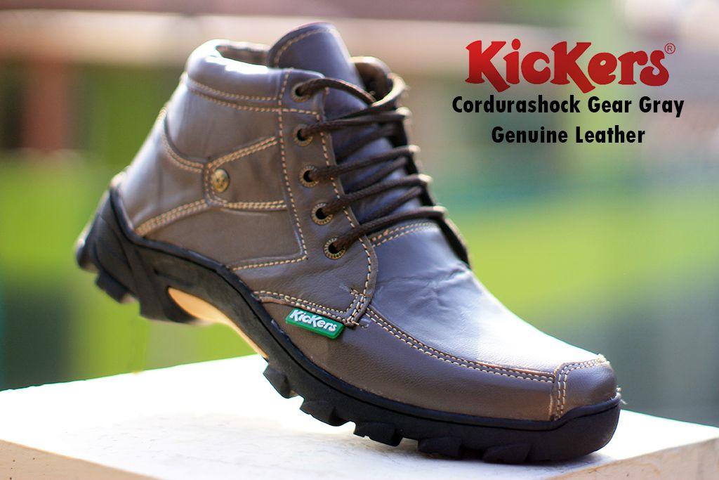 kickers cordurashock gear grey kulit