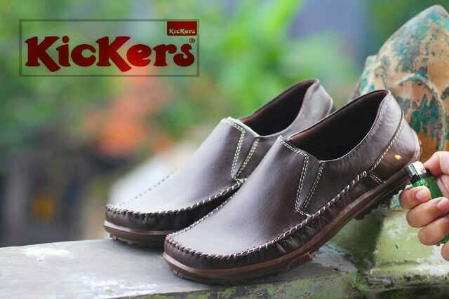 sepatu kickers bezita coklat kulit