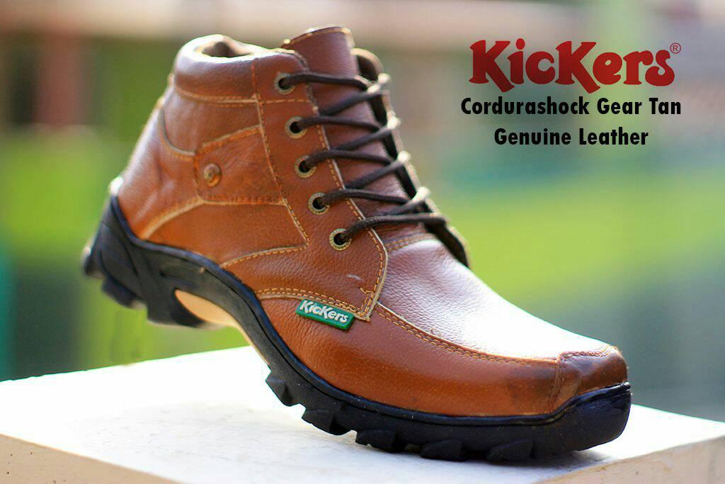 kickers cordurashock gear tan kulit