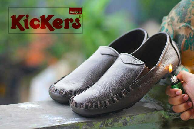 sepatu kickers bo coklat kulit
