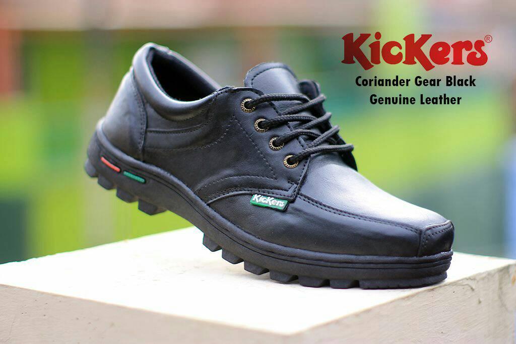 kickers coriander gear black kulit