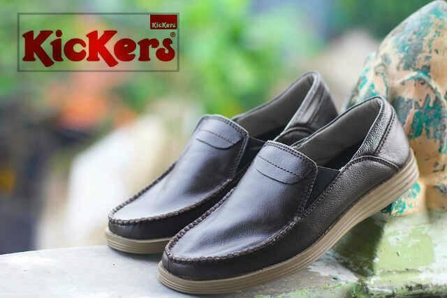 sepatu kickers krilin hitam kulit