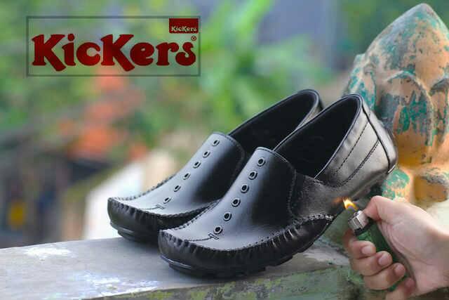 sepatu kickers goku hitam kulit
