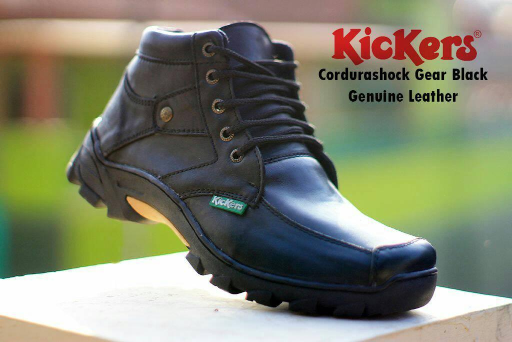 kickers cordurashock gear black kulit