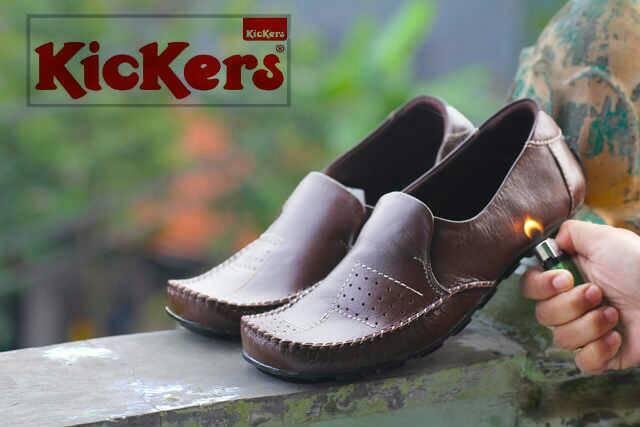 sepatu kickers trunk coklat kulit
