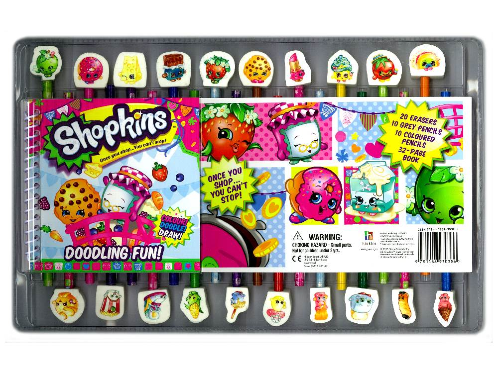Shopkins Doodling Fun Pack Stationary Set