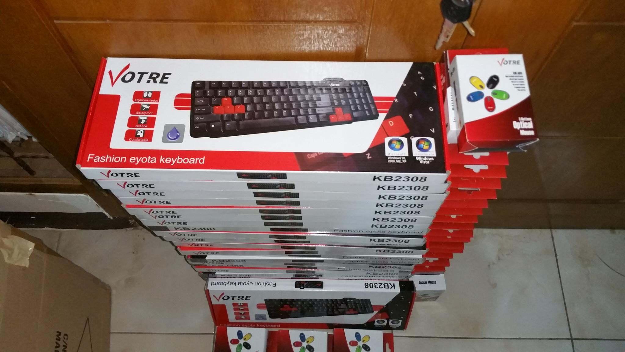 Jual Keyboard Dan Mouse Usb Optical Votre Paket Jaya Plaza Kb2308 Tokopedia