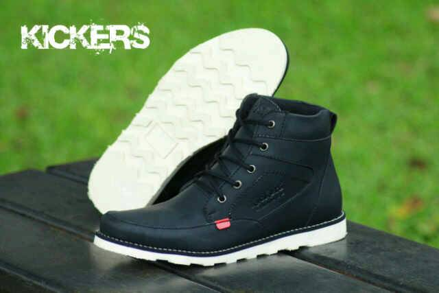 sepatu boot kickers rasmus black
