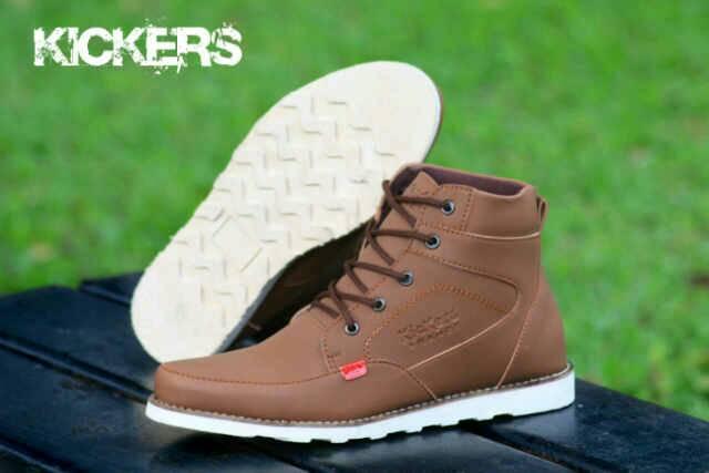 sepatu boot kickers rasmus brown
