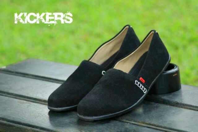 sepatu kickers slop 3 hitam suede