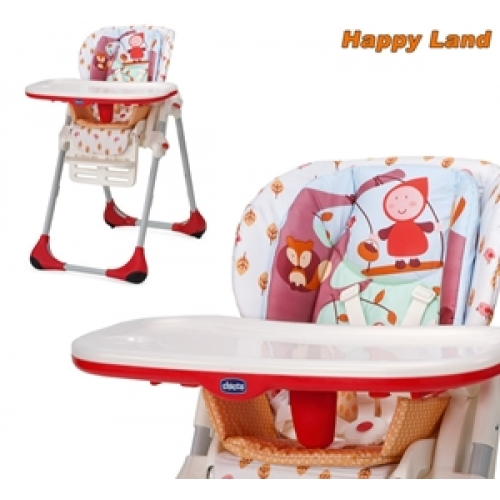 Jual High Chair Chicco Polly 2 In 1 Happy Land Paradise Babys