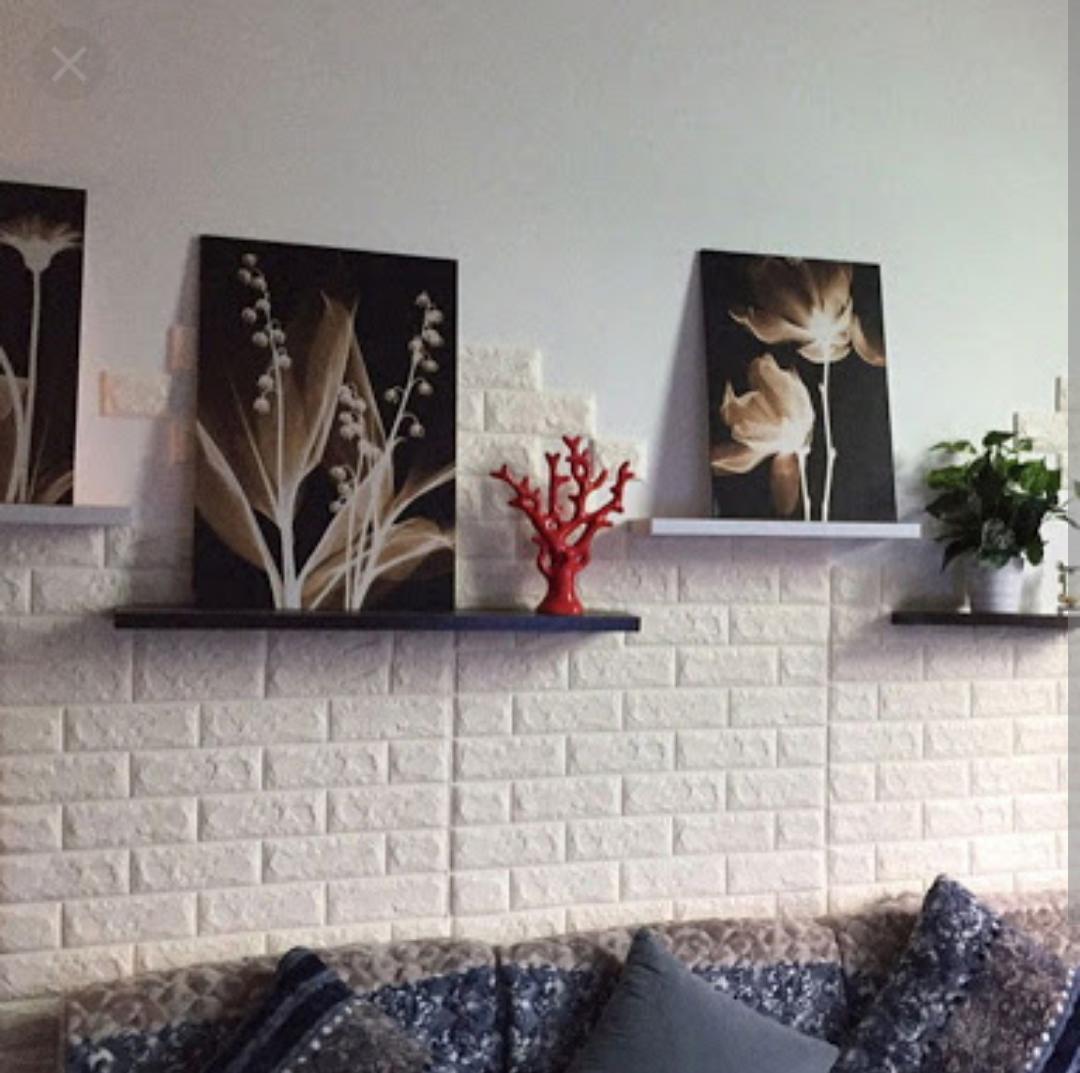 Jual SALE !! 3D Wallpaper FOAM BRICK, EMBOSSED, TEKTURES
