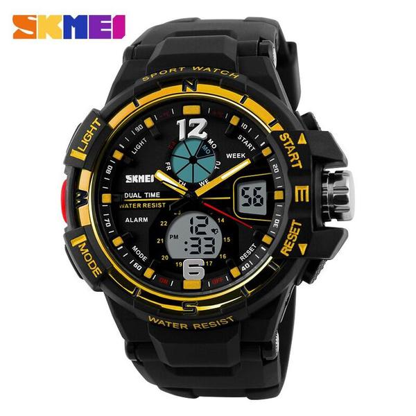 SKMEI Men Sport Analog LED Watch Water Resistant 50m - AD1148 - Jam Ta