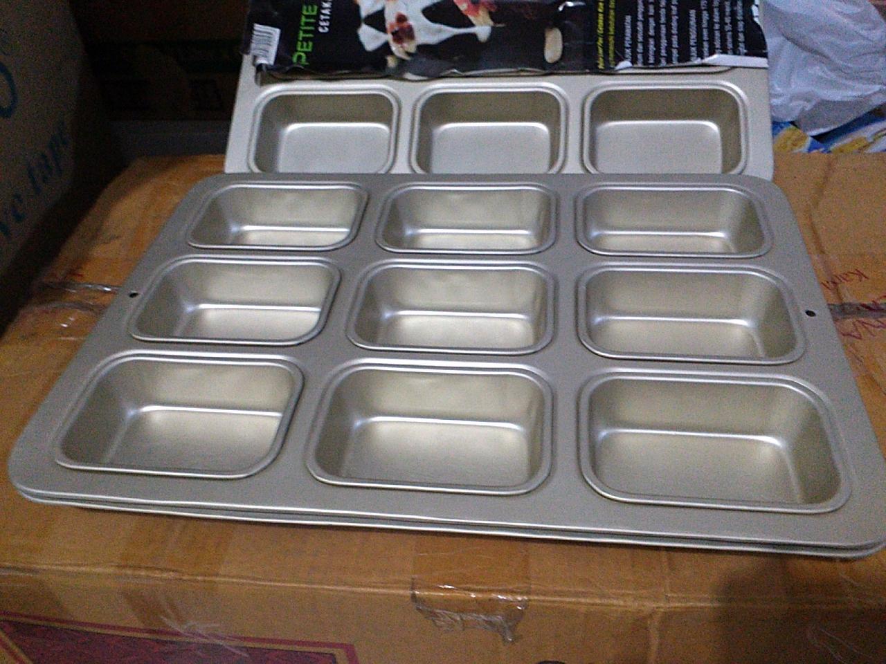 Jual Mini Loaf Pan Loyang Muffin Kotak Opal Baking