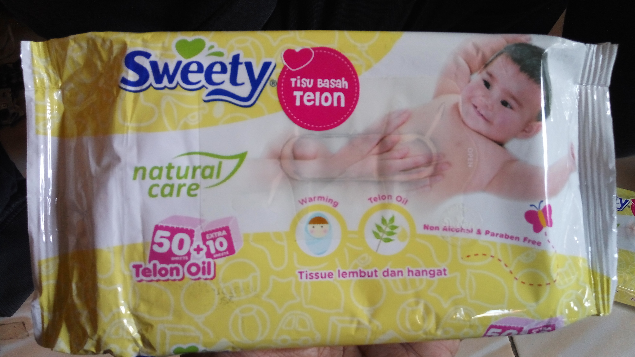 Jual Sweety Natural Care Tissue Basah Telon 60 Sheets Titikgrosirmurah Tokopedia