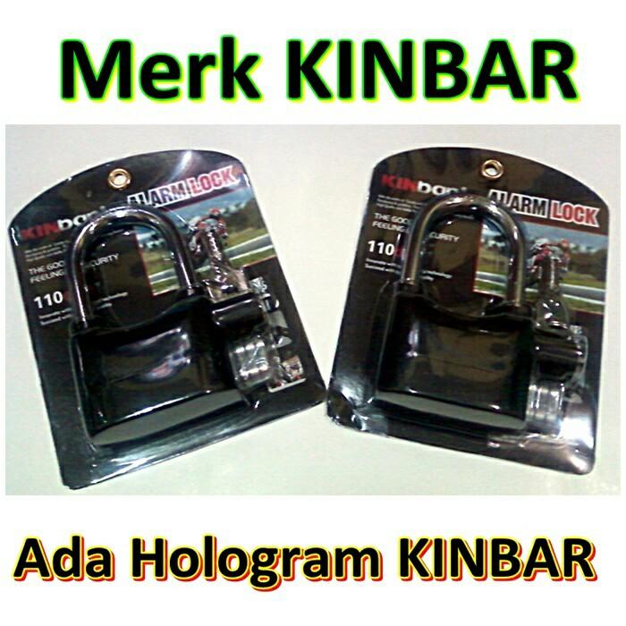 Gembok Alarm Kinbar Lock / Gembok Kunci Bunyi Alarm Anti Maling