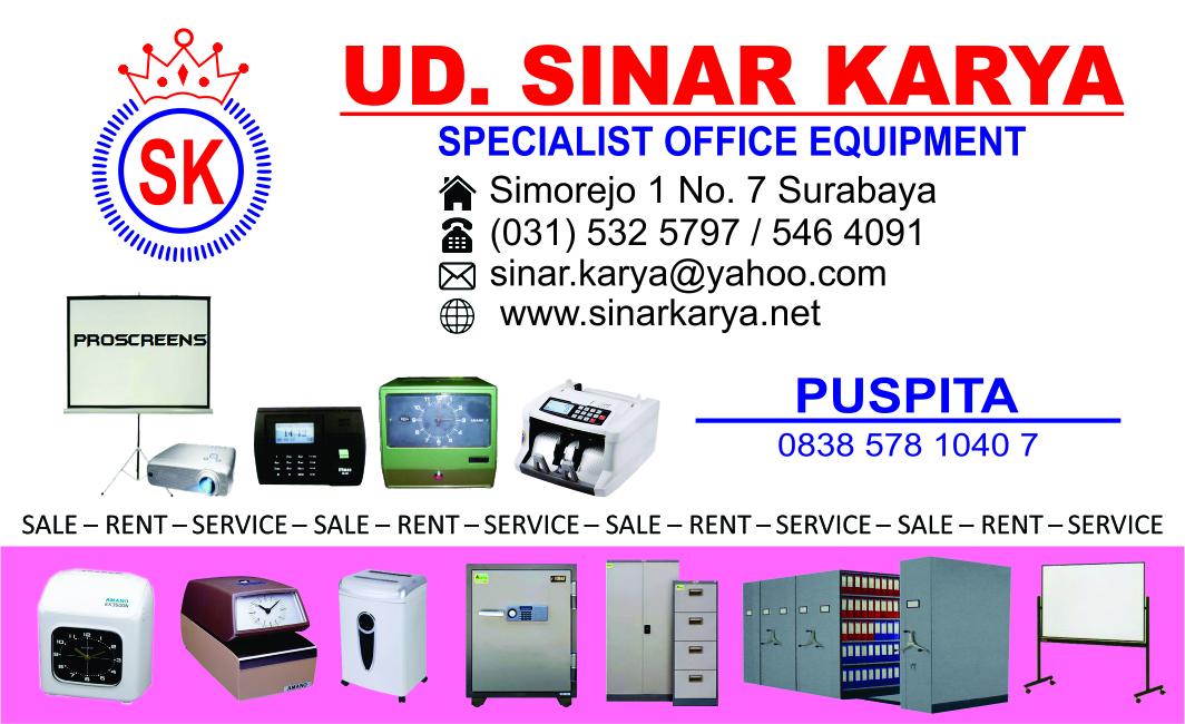 Kartu Nama SINAR KARYA Specialist Office Equipment