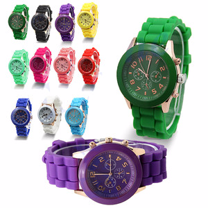Silicone Watch / Jelly Golden Quartz Wrist Watch