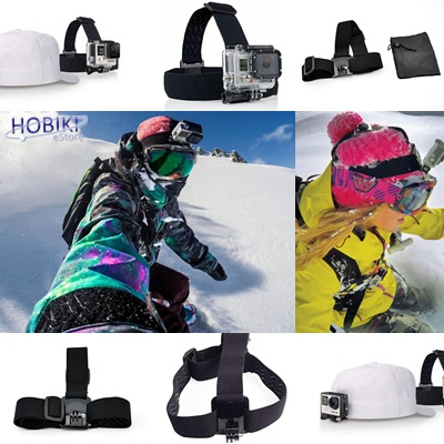 Head Strap Anti-Slide Glue And Storage Bag For GoPro Hero 3 + / 3/2 / 1