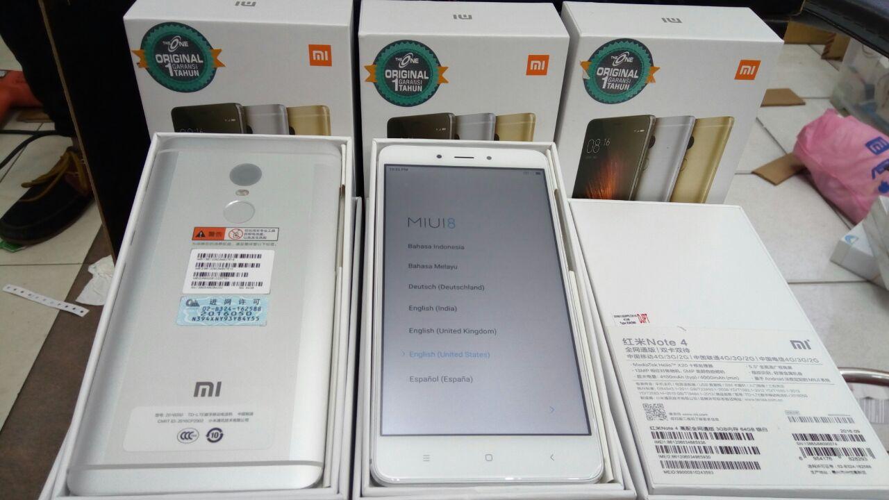 Xiaomi Redmi Note 4 Snapdragon Ram 3gb Rom 32gb Gold Grs Distributor 4x 64gb Garansi 1 Tahun Source Jual
