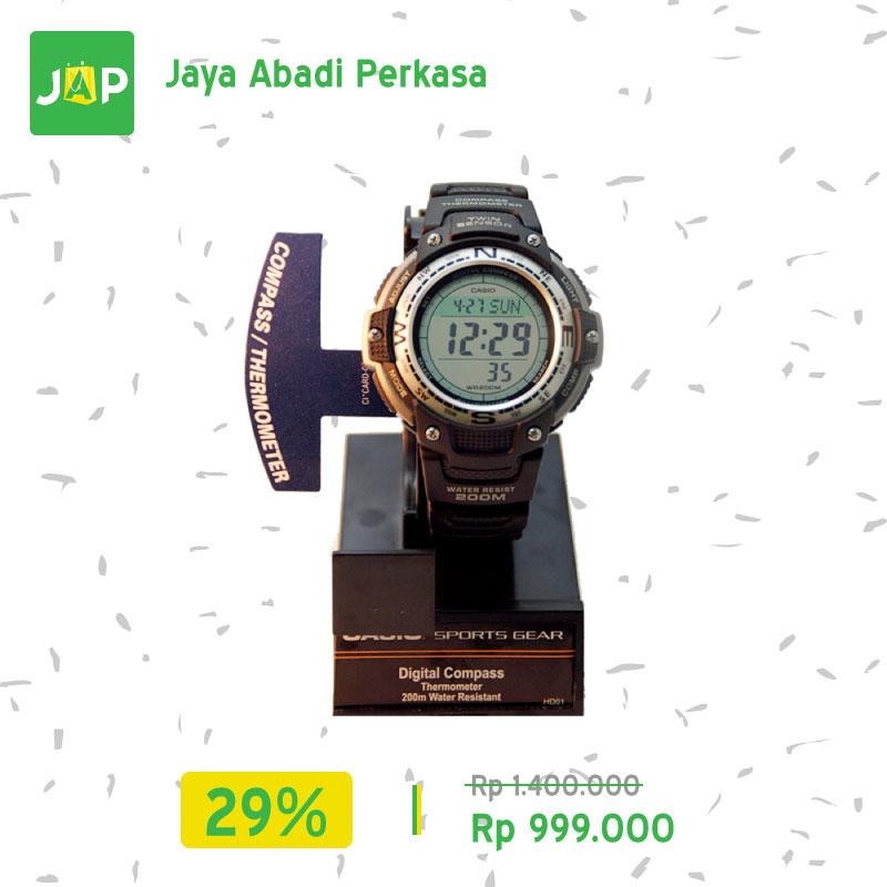 jual casio jam tangan olahraga sgw 100 1v digital hitam
