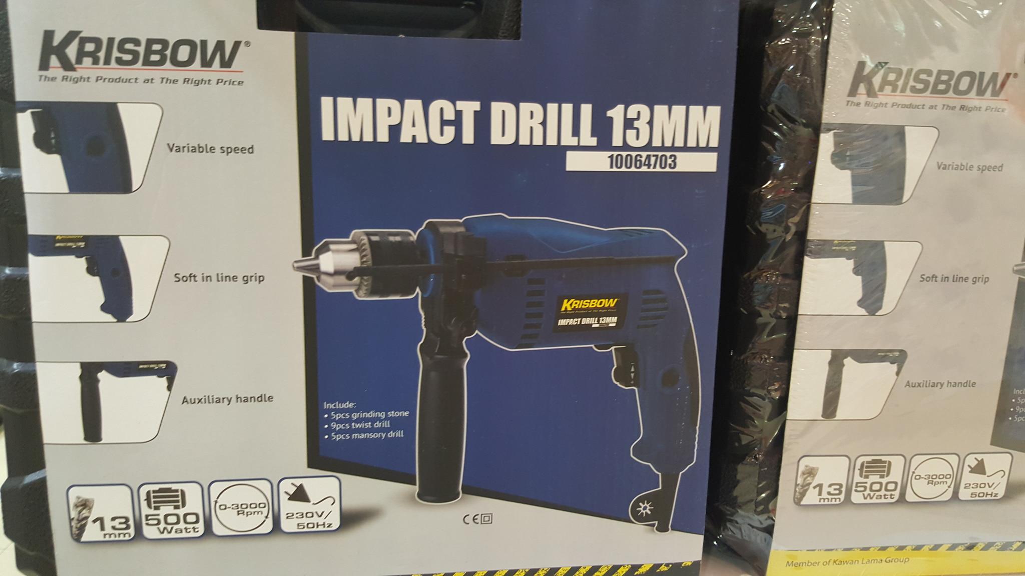 Krisbow Impact Drill 13MM 10064703 / Alat Bor Merk Krisbow