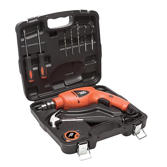 Black&Decker HD400K9 Peralatan Bor Palu Dan Obeng Dalam 09225
