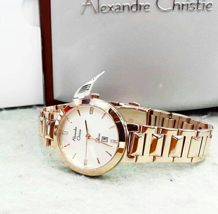 Jam Tangan Wanita Alexandre Christie AC2593 Original Elegan