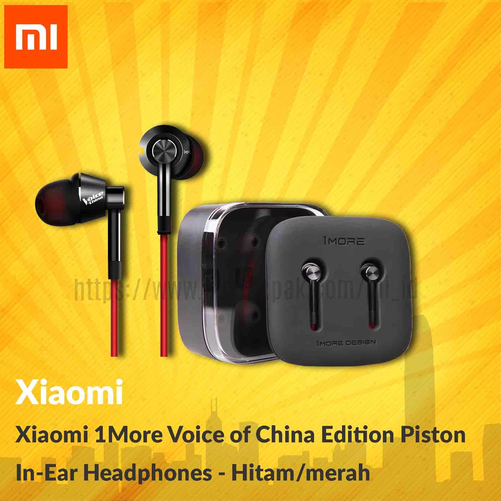 Xiaomi 1more Voice Of China Edition Piston In - Ear - Hitam / Merah - Blanja.com