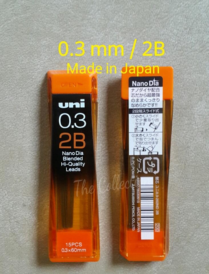 ATK256UN 0.3 Mm 2B JAPAN 15 Leads Isi Pensil Mekanik Mechanical Pencil
