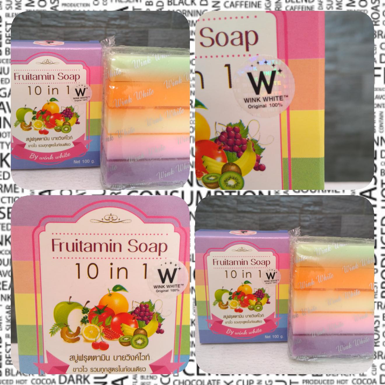 Wink White Fruitamin Soap 10 In 1 Original Thailand Sabun Rainbow Frutamin Source Jual 10in1 By Pemutih Jakarta Cosmetic2