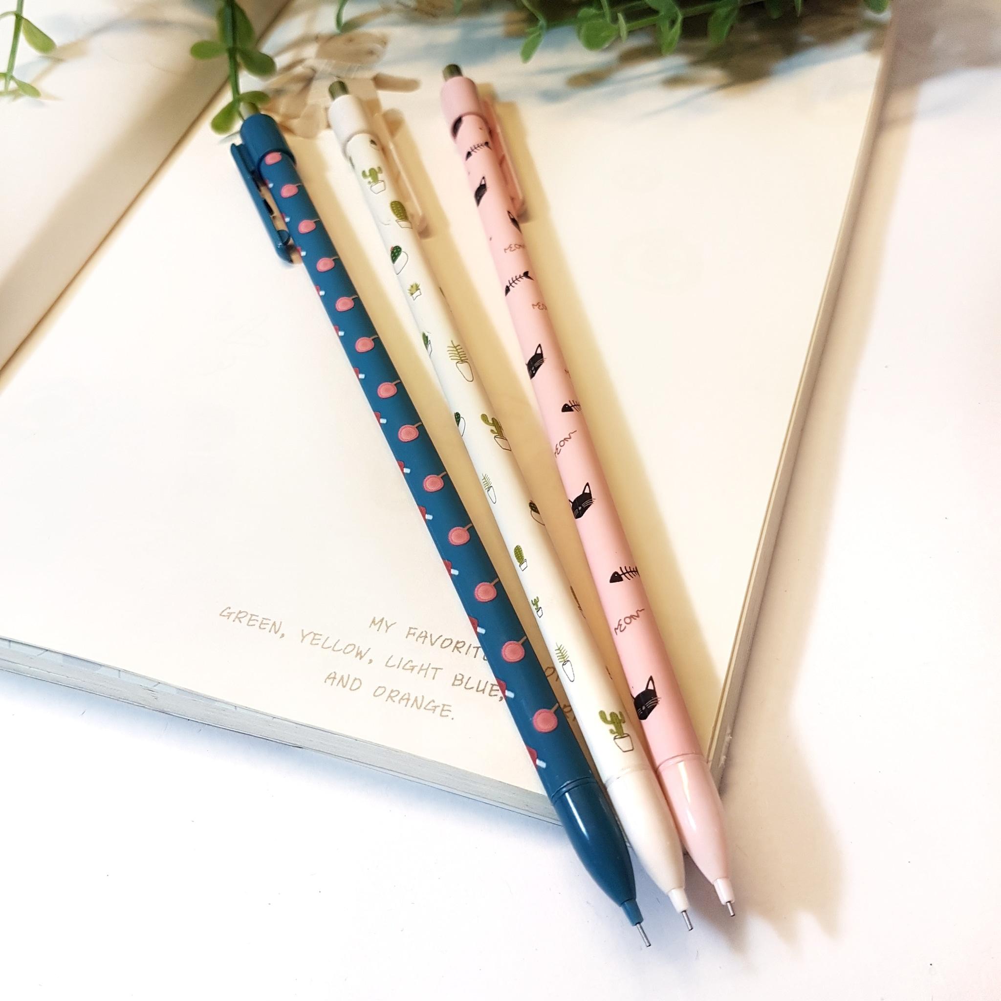 Alat Tulis | Pensil Mekanik | Pensil Ketik Kaktus Kucing Lolipop