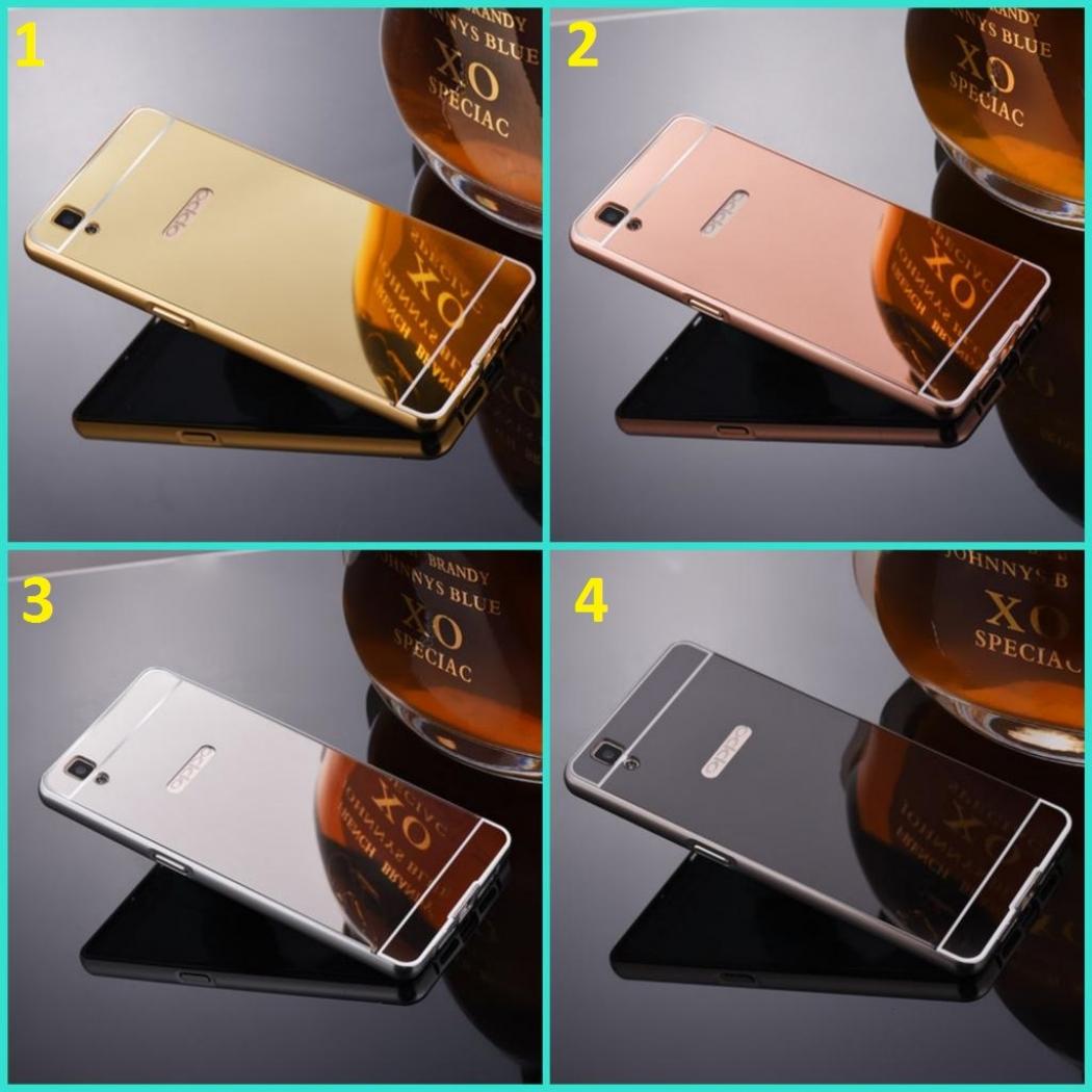 Case Aluminium Bumper Untuk Oppo Neo 7 Gratis Tempered Glass Hitam