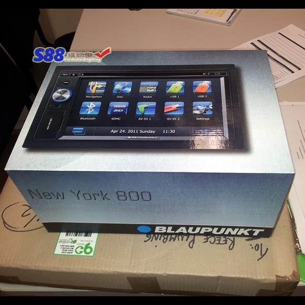 sales double din headunit blaupunkt new york 800 gps. Black Bedroom Furniture Sets. Home Design Ideas