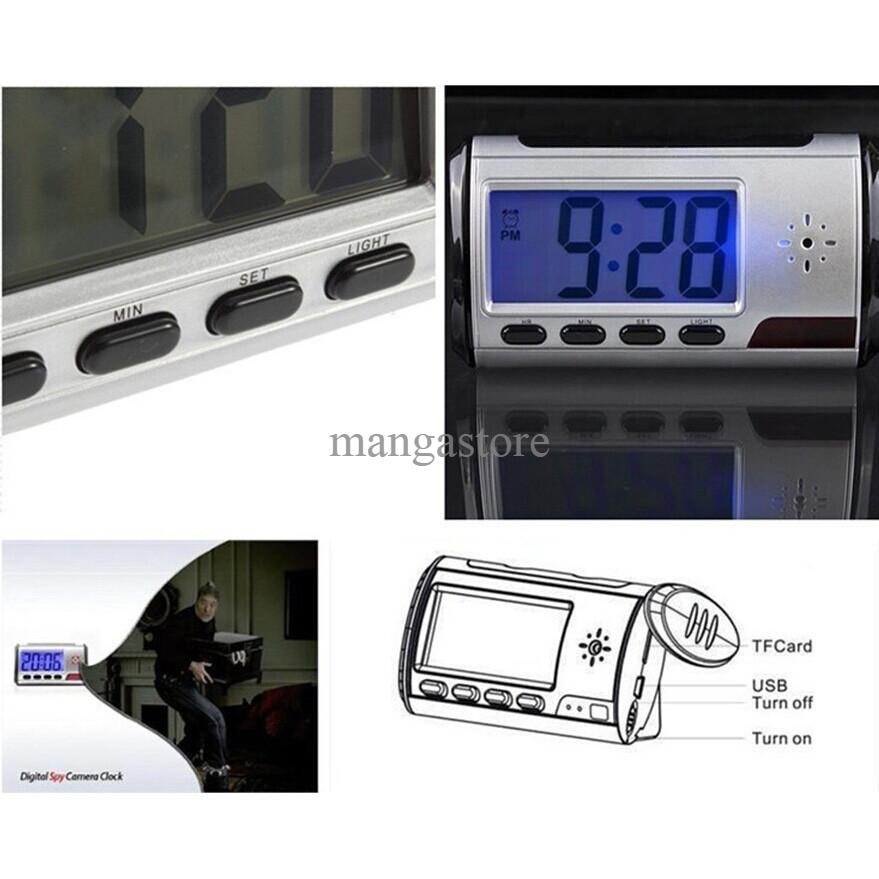 Kamera Pengintai Spy Camera Digital Clock Appearance 720P Motion Detec
