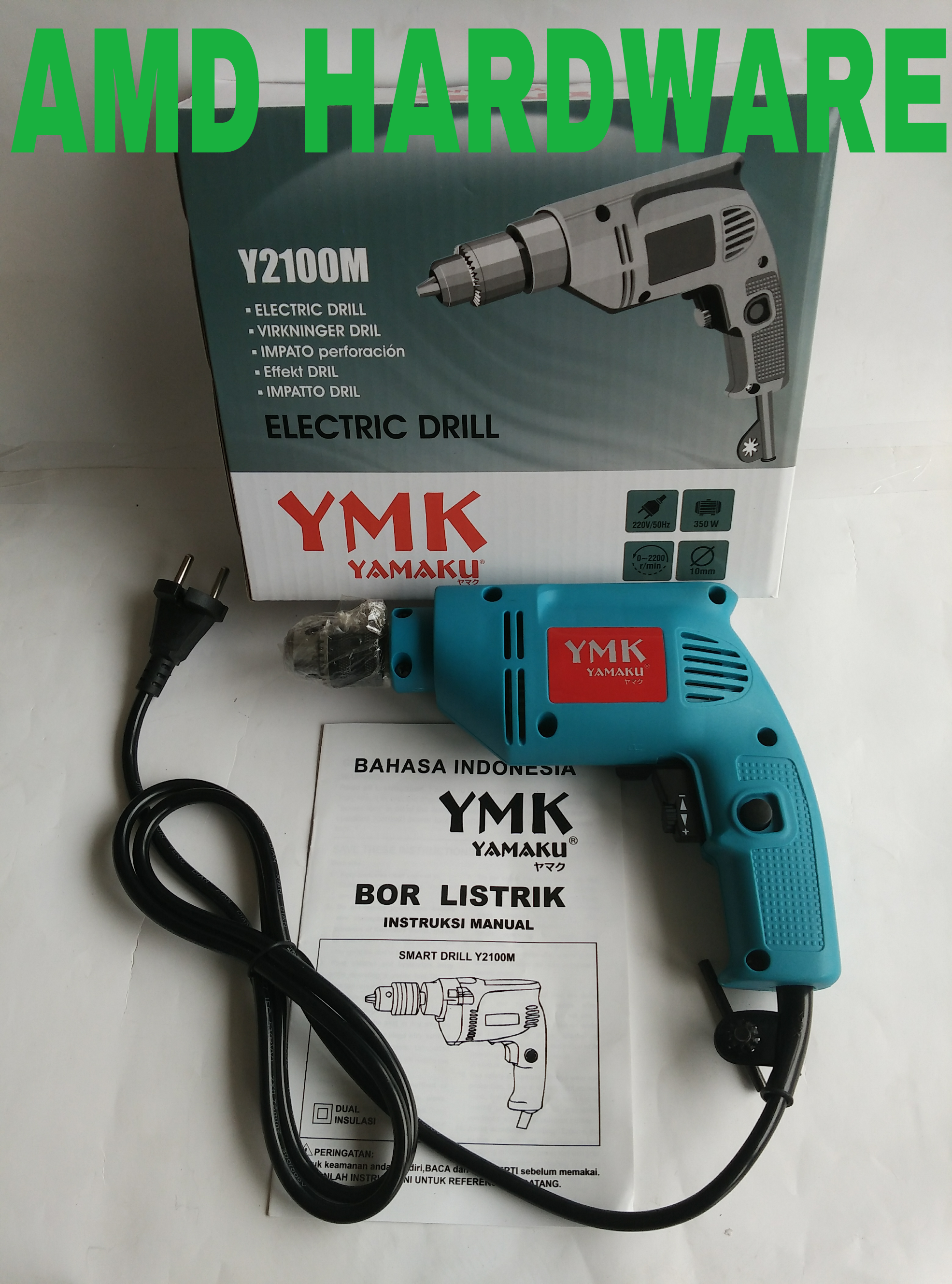 Mesin Bor 10mm Yamaku Y2100m / Drilling Machine 10mm Yamaku Y2100m