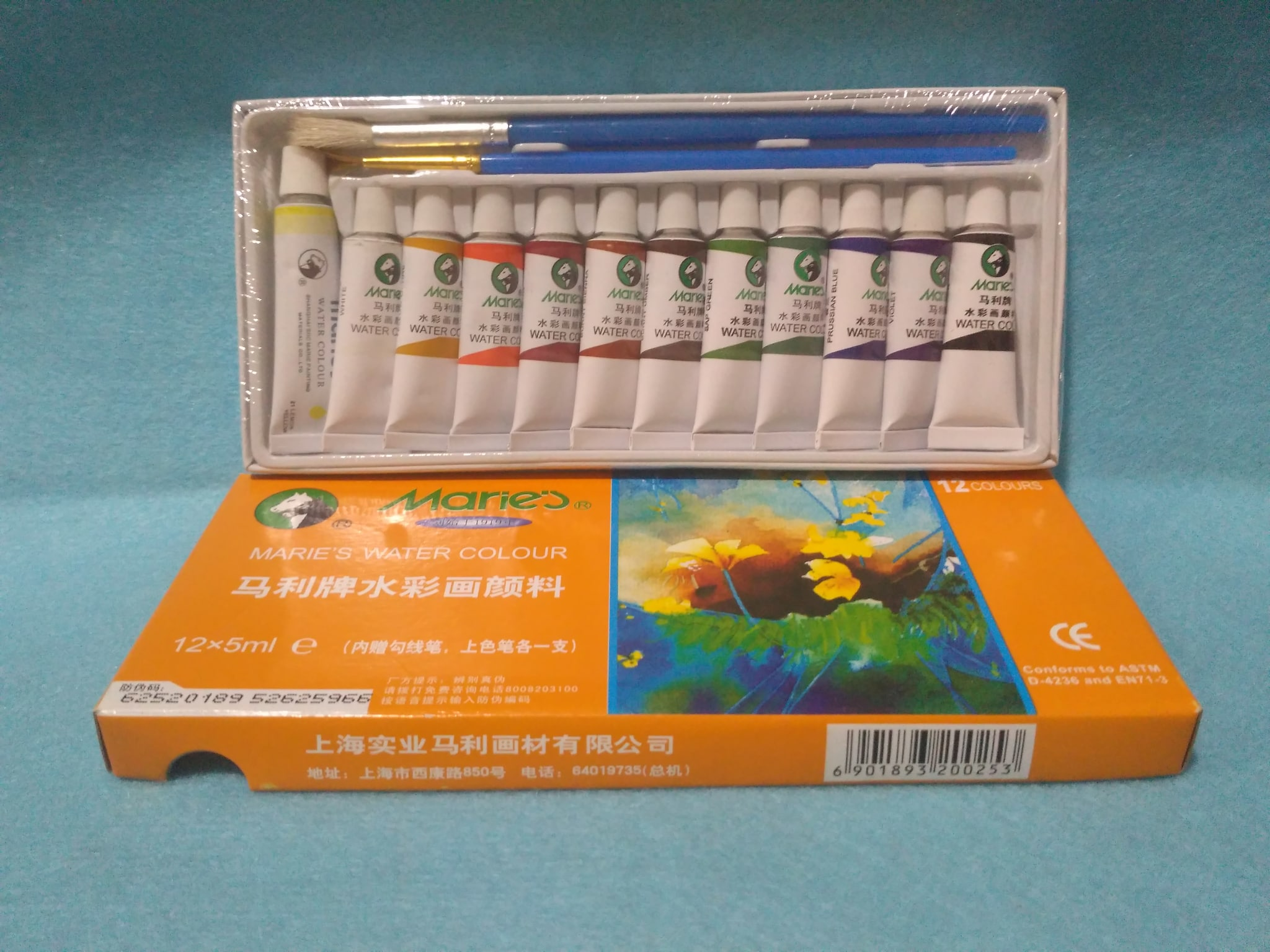 Cat Air Maries / Water Colours (5ml) . 1 Pak Isi 12 Warna